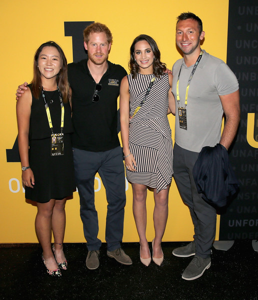 with Prince Harry, Laura Wright and Ian Thorpe
