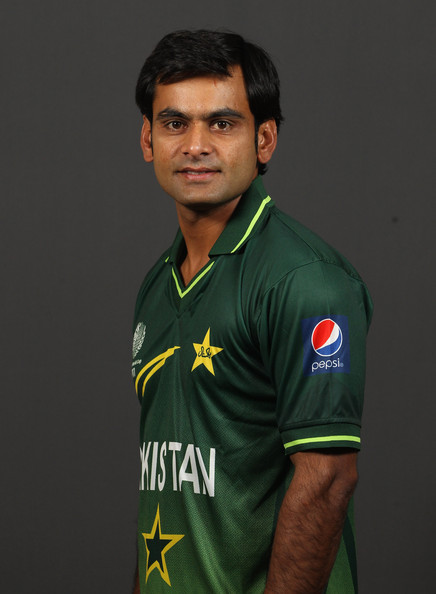 Mohammad Hafeez Mohammad Hafeez of Pakistan poses for a portrait during the Pakistan Portrait session at the Sheraton Hotel on February 13, 2011 in Dhaka, Bangladesh.
