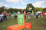 Actors  Sydney Park and Tylen Jacob Williams attend Nickelodeon's 11th Annual Worldwide Day of Play at Prospect Park on September 20, 2014 in New York City.