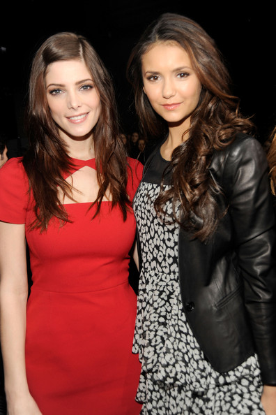 Nina Dobrev - DKNY Women's - Front Row - Fall 2012 Mercedes-Benz Fashion Week