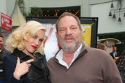 Singer Gwen Stefani and Producer Harvey Weinstein attend the premiere of TWC-Dimension's 'Paddington' held at the TCL Chinese Theatre IMAX on January 10, 2015 in Hollywood, California.