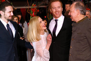 (L-R) Actor James Franco, actress Nicole Kidman, actor Damian Lewis and director Werner Herzog attend the 'Queen of the Desert' premiere during the 65th Berlinale International Film Festival at Berlinale Palace on February 6, 2015 in Berlin, Germany.
