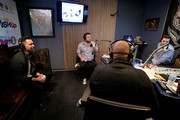 (L-R)  Andy Grammer, Ryan Sampson, Stanley T, Rich Davis and Nicole Ryan attend Hits 1's The Morning Mash Up Broadcast from the SiriusXM Studios on February 10, 2015 in Los Angeles, California.