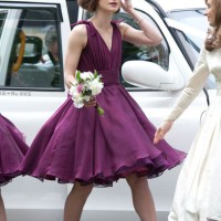 Bridesmaid Keira Knightley's Street Style at her Brother's Wedding in Glasgow