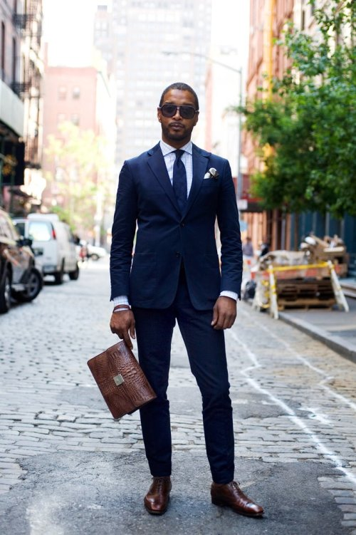 How To Wear Brown Shoes With A Navy Suit