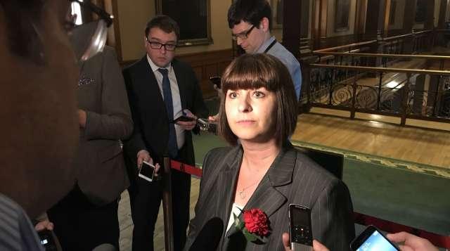 La ministre déléguée aux Affaires francophones, Marie-France Lalonde