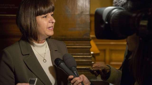 La ministre des Affaires francophones, Marie-France Lalonde.