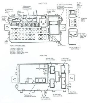 FUSE BOX DIAGRAM FOR 92 HONDA CIVIC  Automotive Wiring