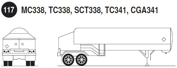 Imagen de remolque para cilindros de gas comprimido.