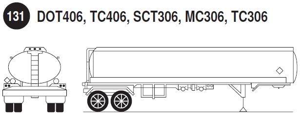 Imagen de autotanque no presurizado para líquidos remolque.