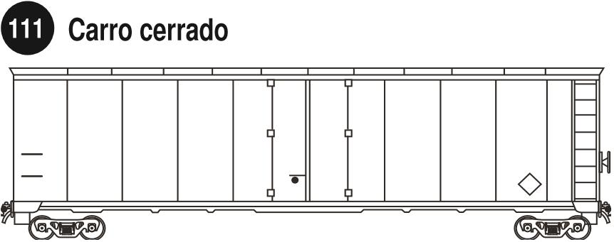 Imagen de un carro cerrado para carga mixta.