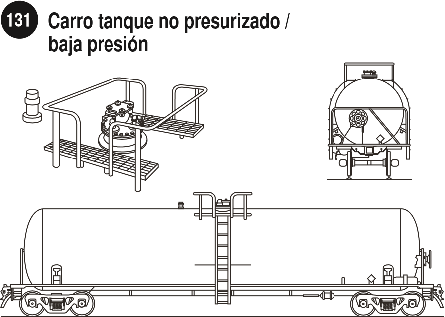 Imagen de un carrotanque de baja presíon para líquidos.