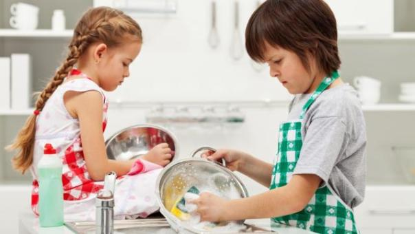 Image result for kids being really good helping mom out