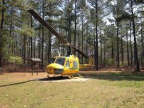 Be sure to check out the helicopter, which was used during controlled burns.