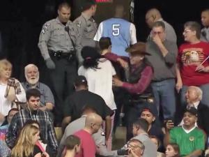 Image result for white man hits black man at rally
