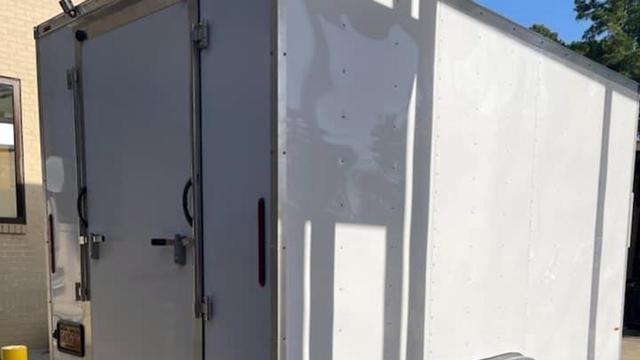 Mobile morgue at UNC Health Southeast