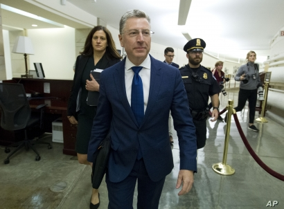 Kurt Volker, a former special envoy to Ukraine, is leaving after a closed-door interview with House investigators as House…