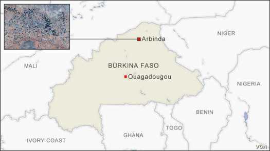 Map of Arbinda Burkina Faso