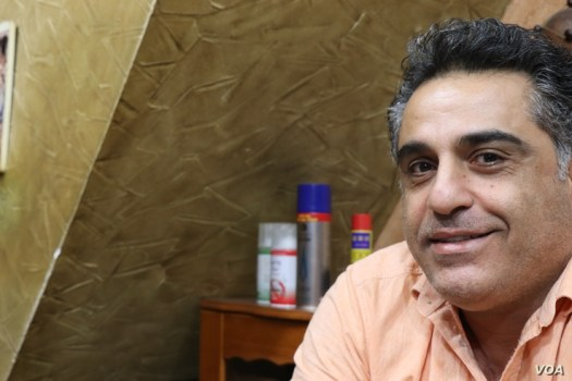 Ayman, a father of two, also blames U.S. sanctions against Hezbollah on the people's financial woes, in Beirut, Nov. 21, 2019. (Heather Murdock/VOA)