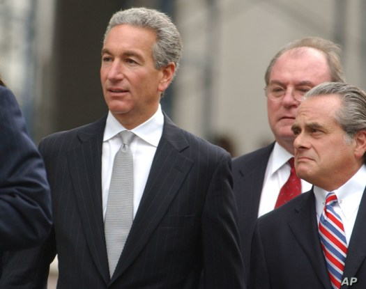 FILE - Charles Kushner, left, walks to the U.S. District Courthouse with his lawyers Benjamin Brafman, right, and Alfred C. DeCotiis, center, in Newark, N.J., Aug. 18, 2004.