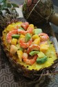 shrimps and exotic fruits salad