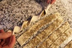 2-zaatar(thyme) and cheese straws |marmite et ponpon
