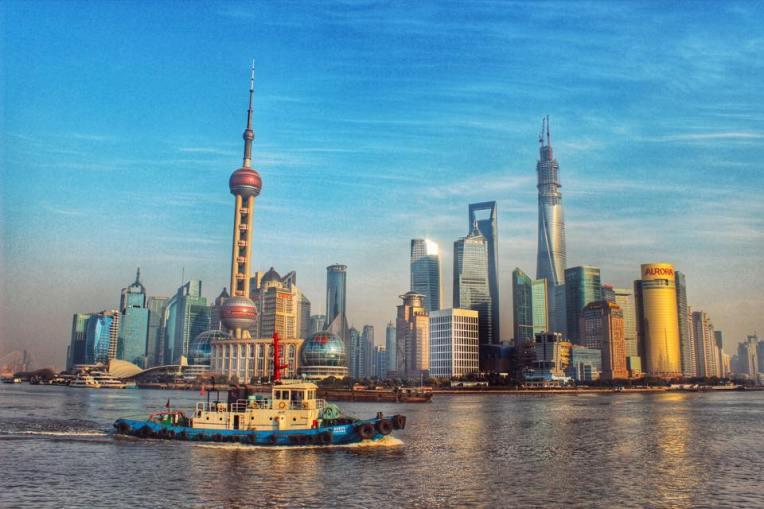 Privelistea catre Pudong, vazuta de pe The Bund