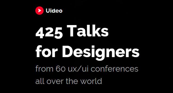 Uideo: 425 Videos Para Diseñadores De Mas De 60 Conferencias