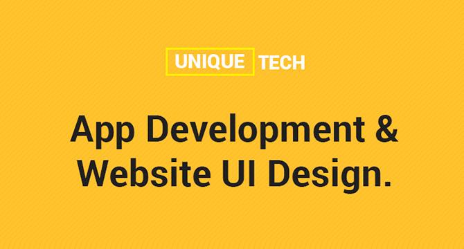 UniqueTech: Plantilla Web PSD En Estilo Flat