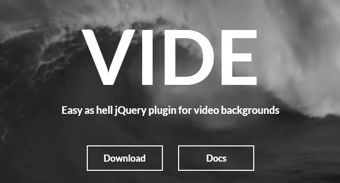 Vide: Plugin De jQuery Para Fondos De Video