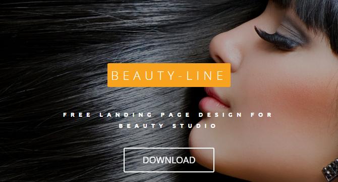 Beauty Line: Plantilla De Sitio Web De Belleza