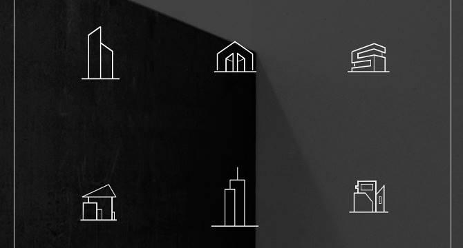architecture-paquete-de-iconos-delineados