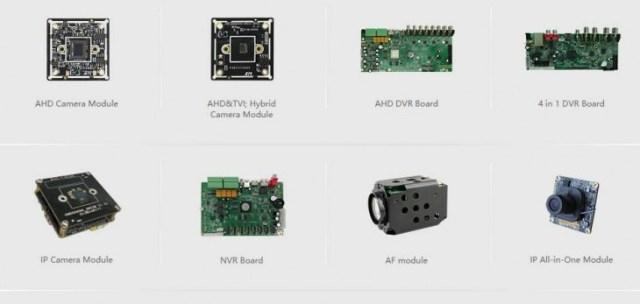 Algunos de los productos de la empresa xiongmai tech
