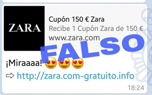 Cupones falsos en WhatsApp