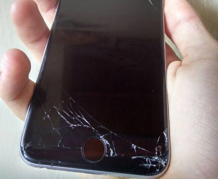 iPhone 6s pantalla partida