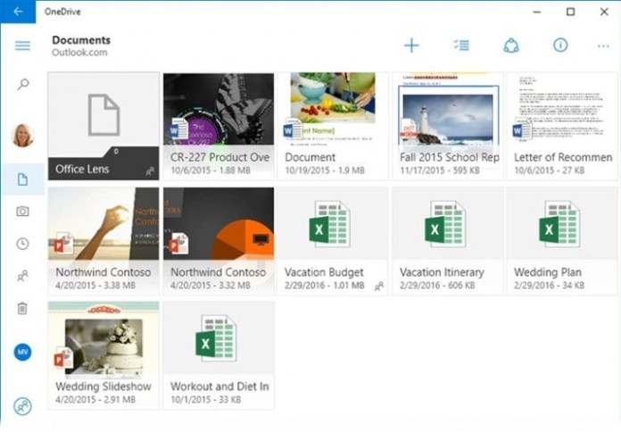 OneDrive new feature play videos in the background