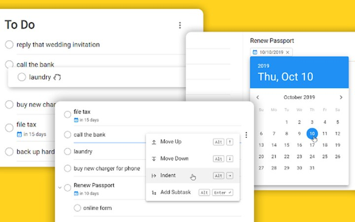 Una extensión para tener Google Tasks a pantalla completa