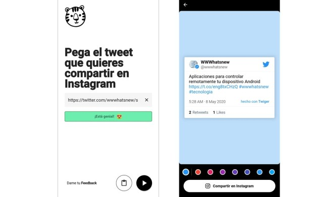 compartir tweets en Instagram