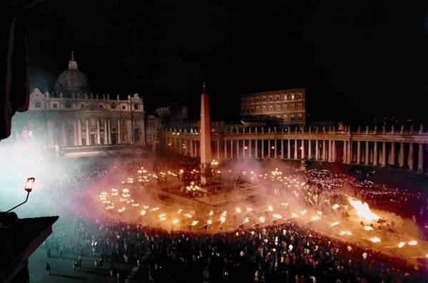 La 'Ndocciata in piazza San Pietro a Roma nel 1996