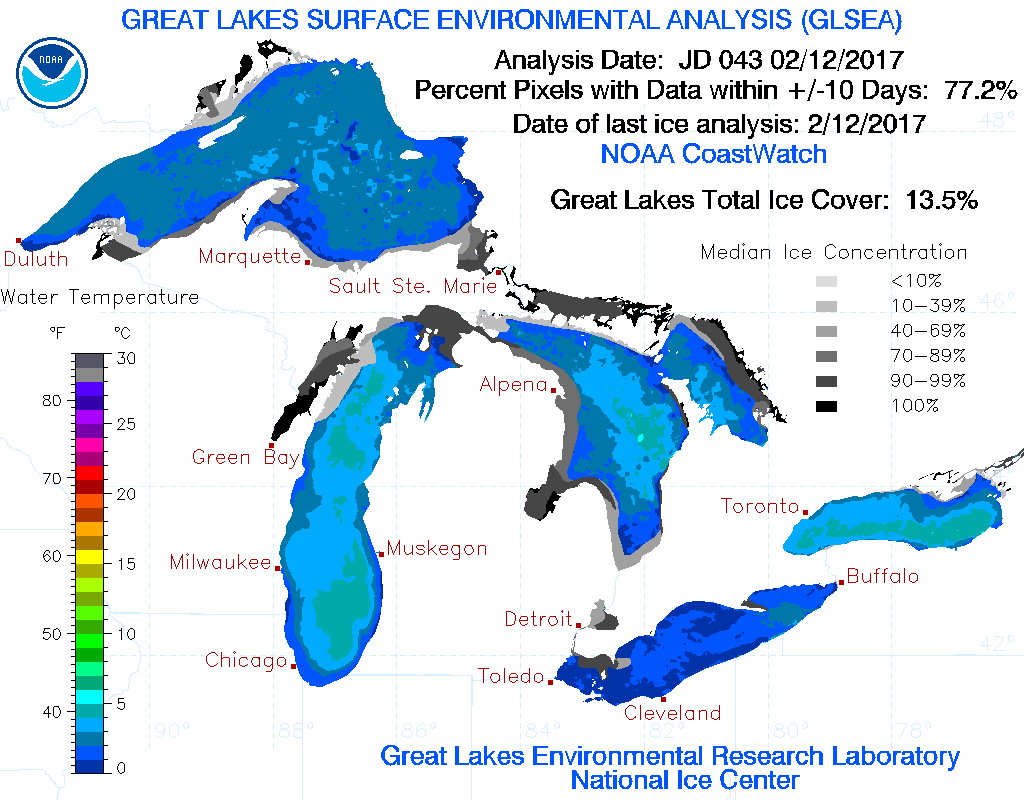 How Is The Ice Cover On The Great Lakes