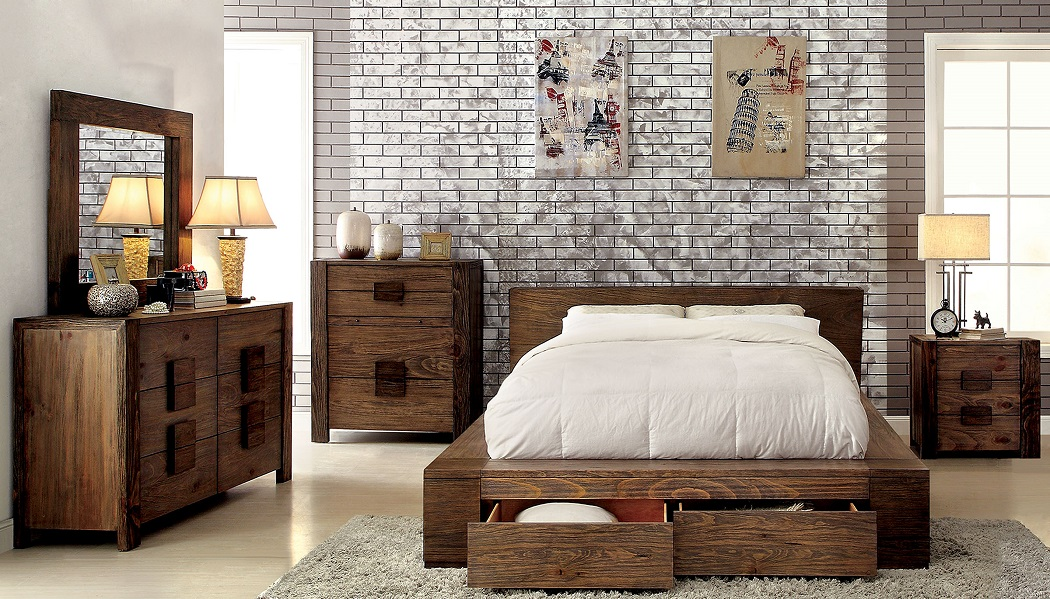 Janeiro Collection CM7629 Furniture Of America Bedroom Set
