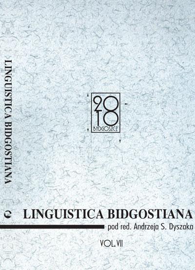 Linguistica Bidgostiana tom VII