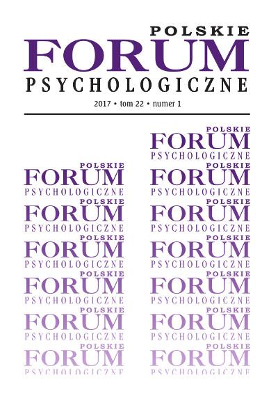 Polskie Forum Psychologiczne tom 22 numer 1