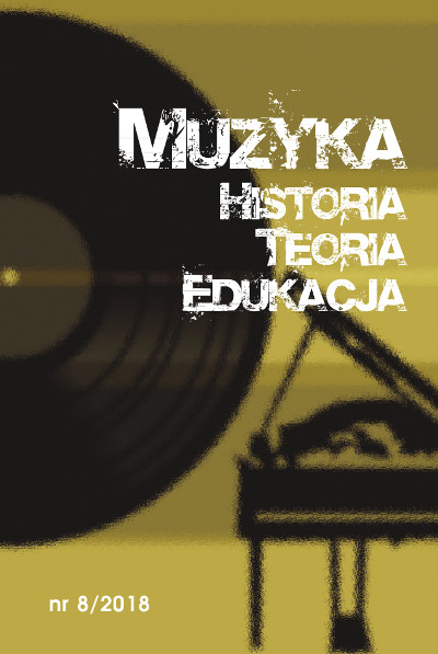 Muzyka. Historia. Teoria. Edukacja nr 8/2018