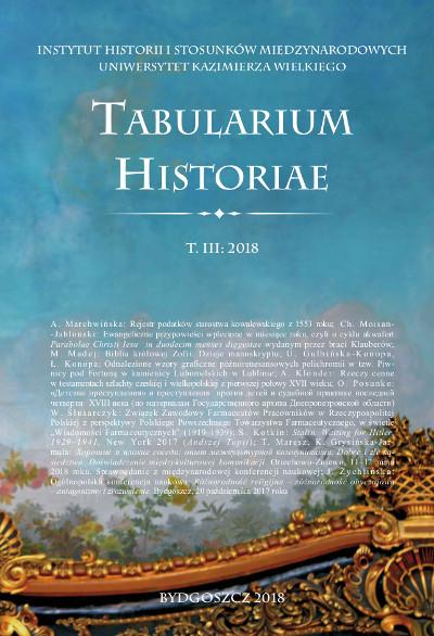 Tabularium Historiae T. III: 2018