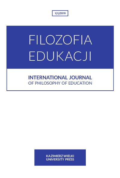 Filozofia Edukacji 1(1)2019  International Journal of Philosophy of Education
