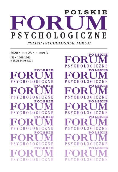 Polskie Forum Psychologiczne tom 25 numer 3
