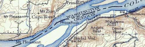 This 1911 map shows Phoca Rock with its restored name