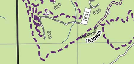 Cryptic map of the Bear Creek area used by the Forest Service to propose OHV playgrounds