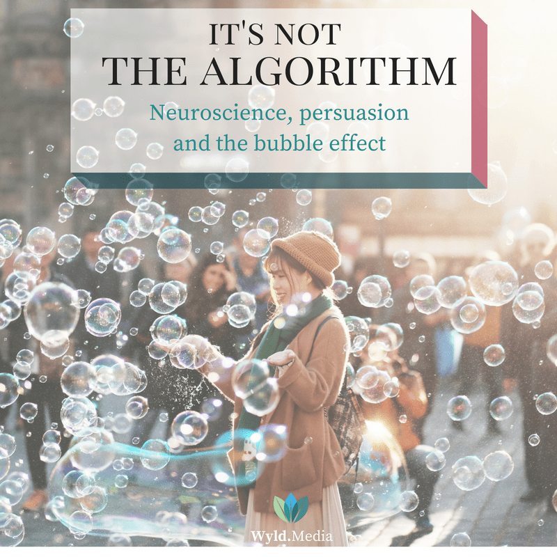 It's Not About The algorithm. Neuroscience, persuasion, and the bubble effect
